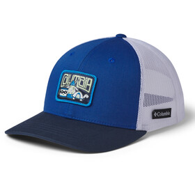 Columbia Snap Back Hat Kids, azul/white/collegiate navy/camp creatures patch